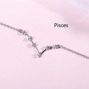 NEW 925 Sterling Silver Zodiac Bracelet-Pisces